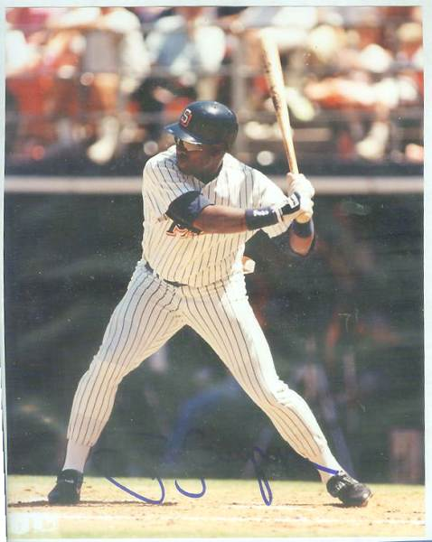 Tony Gwynn - Autographed 8x10 Color Glossy {COA:Express Sports} (Padres) Baseball cards value