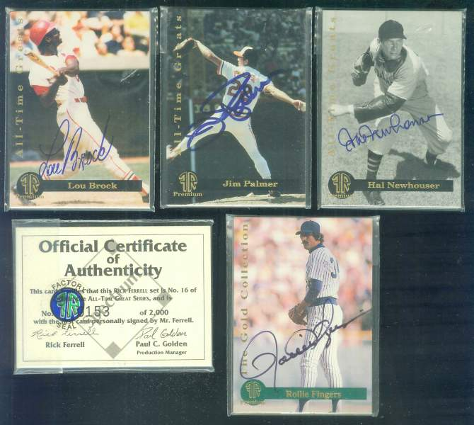 Rollie Fingers - 1993 Front Row Premium AUTOGRAPHED 5-card set Baseball cards value