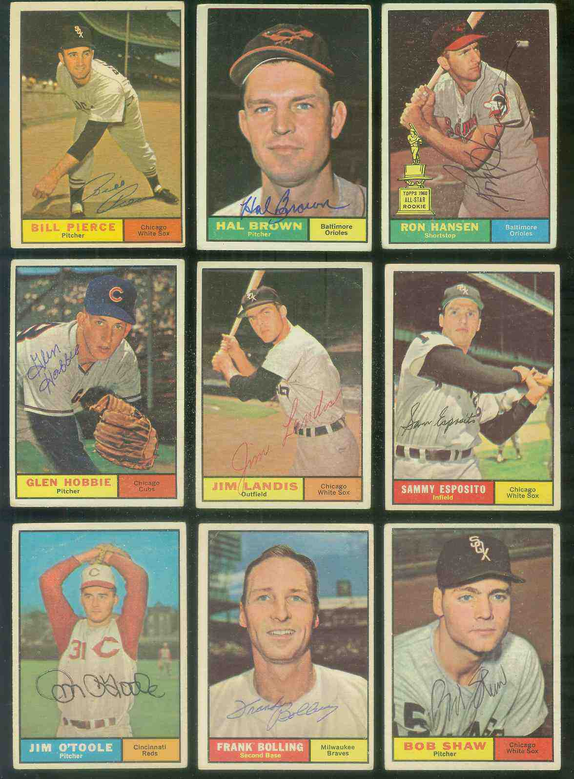 1961 Topps AUTOGRAPHED #271 Jim Landis w/PSA/DNA Auction LOA (White Sox) [d Baseball cards value