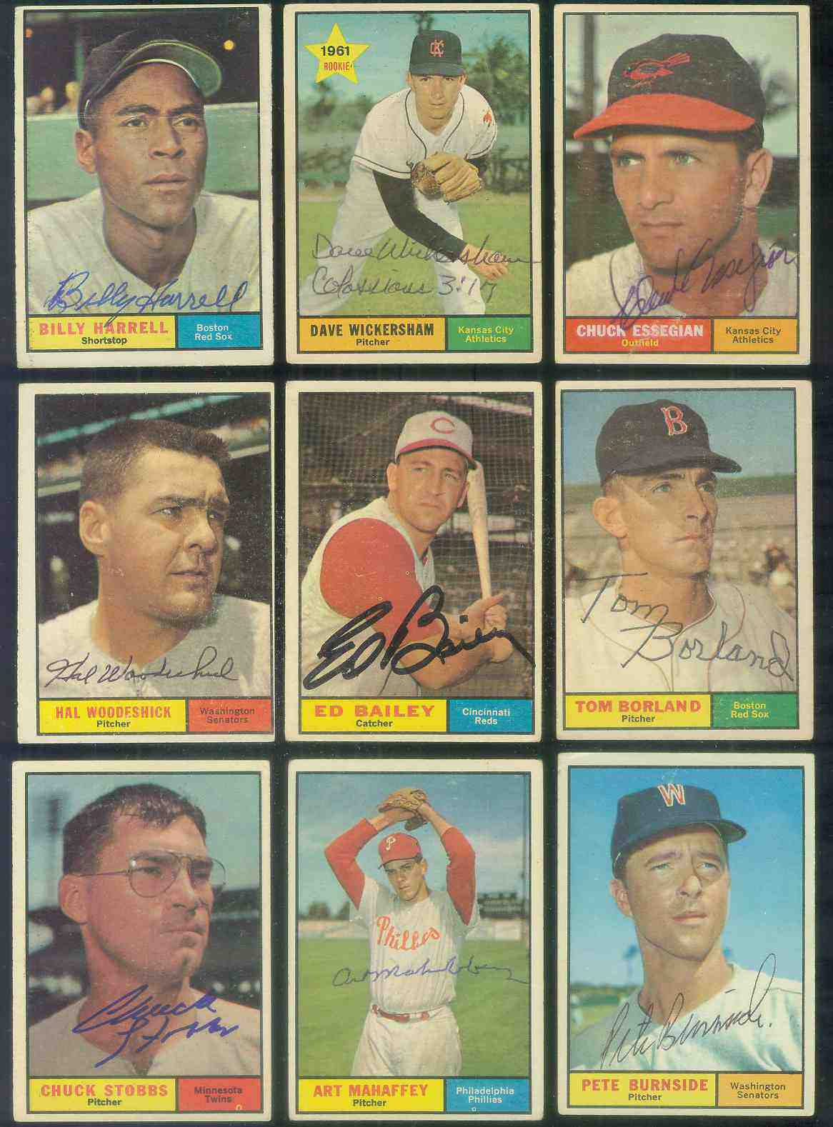 1961 Topps AUTOGRAPHED #397 Hal Woodeshick w/PSA/DNA LOA (Senators,deceased Baseball cards value