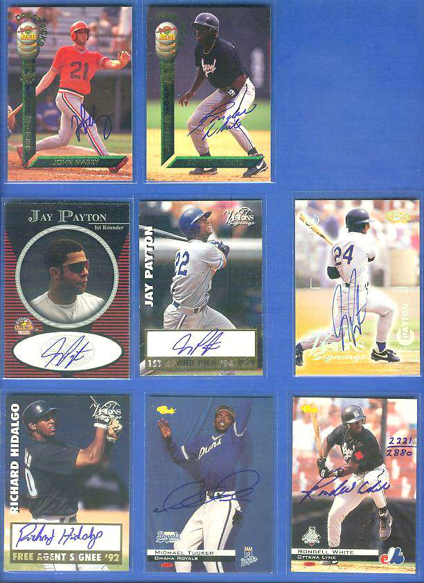Jay Payton - 1996 Vision Signings SILVER AUTOGRAPH (Mets) Baseball cards value