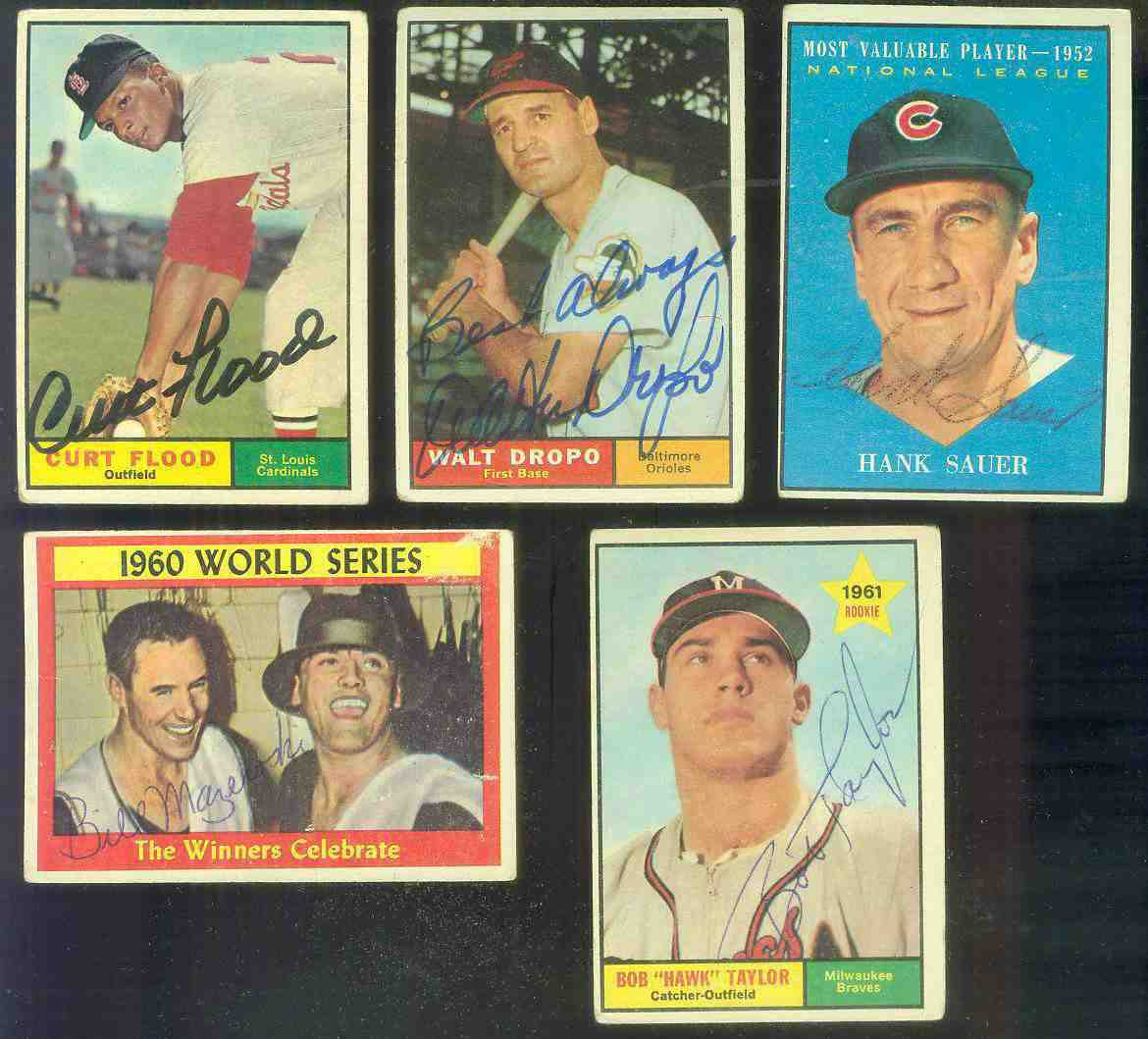 1961 Topps AUTOGRAPHED #481 Hank Sauer MVP w/PSA/DNA LOA (Cubs,deceased) [d Baseball cards value