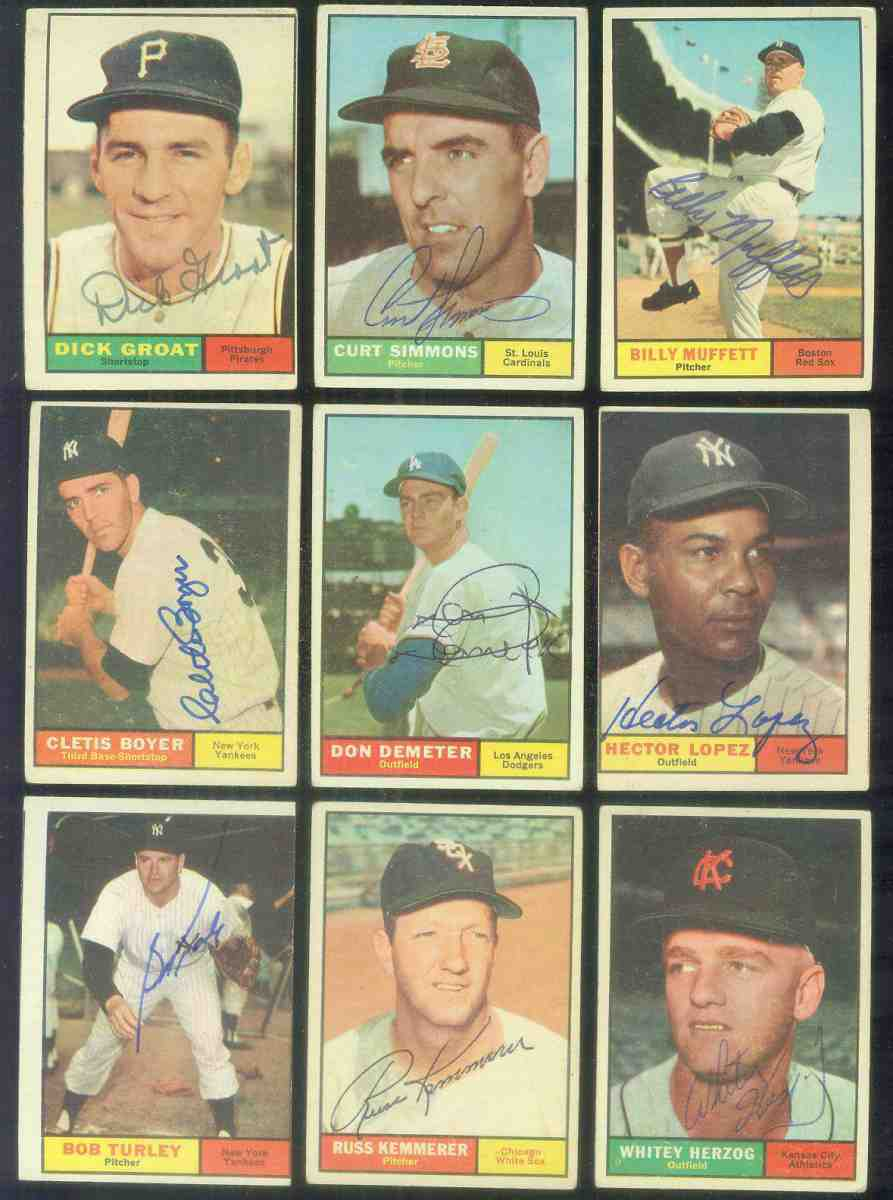 1961 Topps AUTOGRAPHED #.56 Russ Kemmerer w/PSA/DNA Auction LOA (White Sox) Baseball cards value