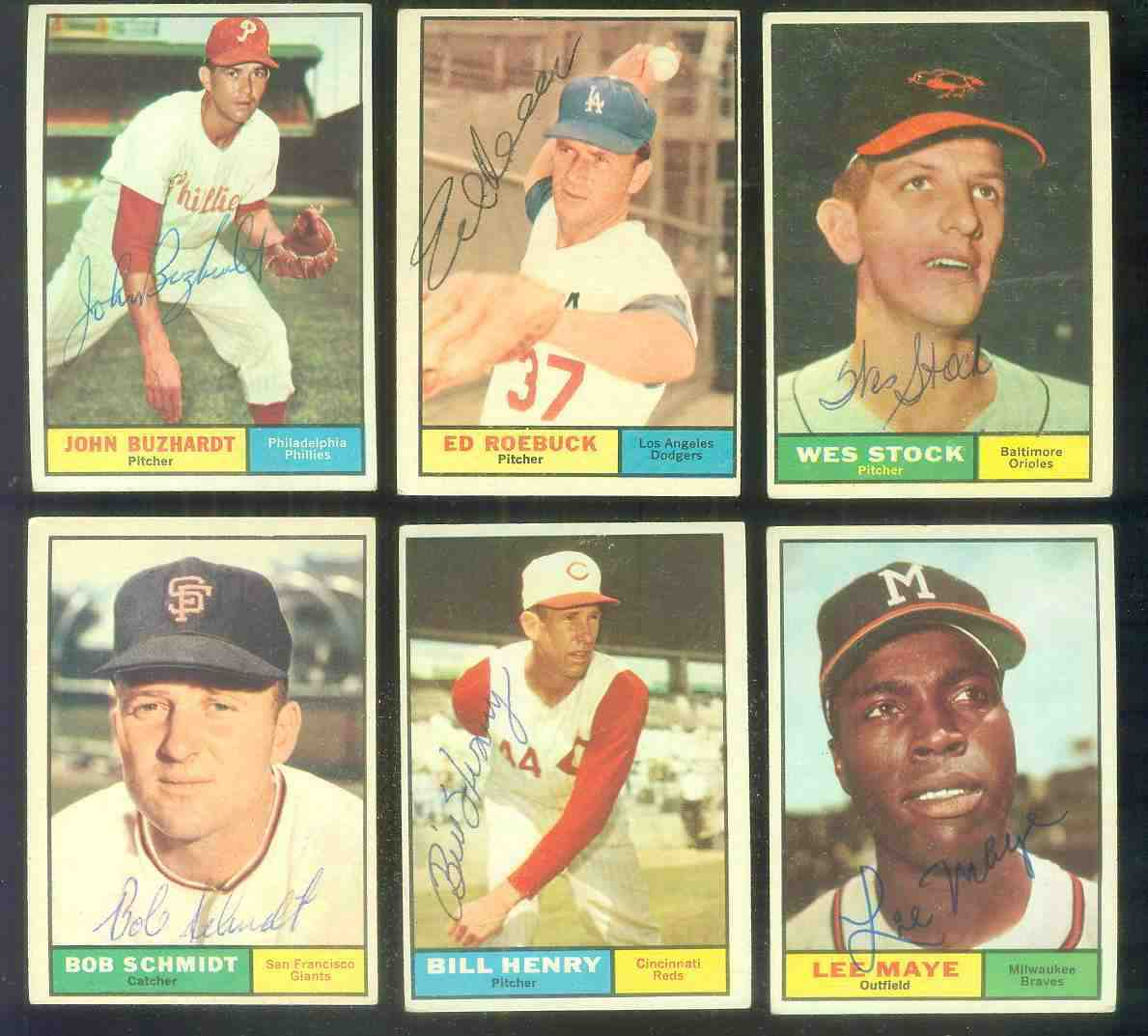 1961 Topps AUTOGRAPHED #.66 Bill Henry w/PSA/DNA Auction LOA Baseball cards value
