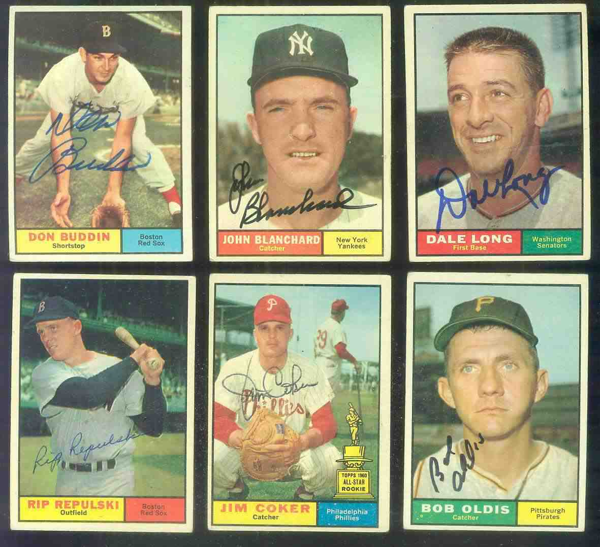 1961 Topps AUTOGRAPHED #128 Rip Repulski w/PSA/DNA Auction LOA Baseball cards value