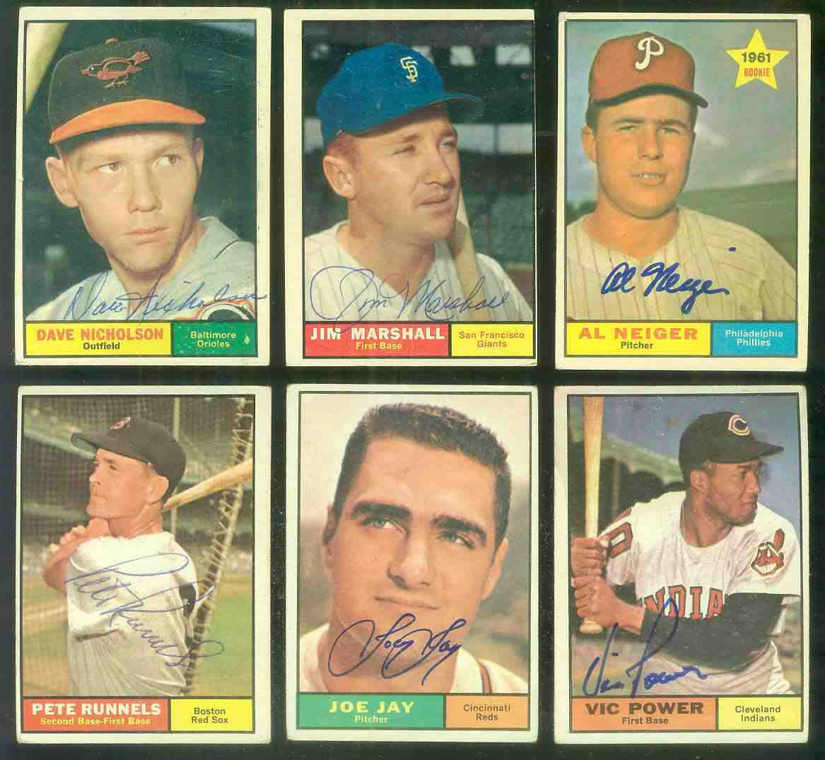 1961 Topps AUTOGRAPHED #202 Al Neiger w/PSA/DNA Auction LOA Baseball cards value