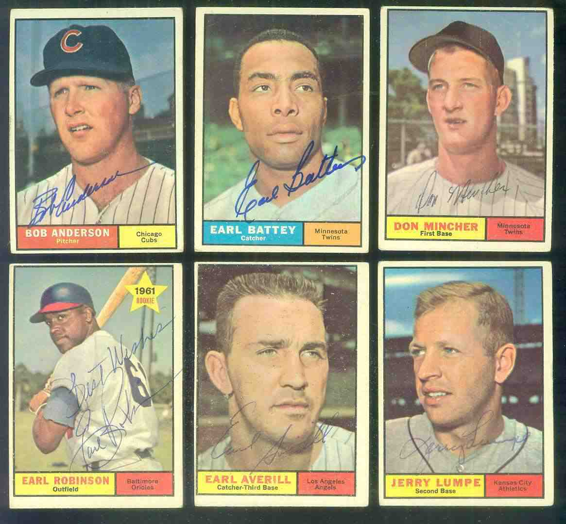 1961 Topps AUTOGRAPHED #358 Earl Averill w/PSA/DNA Auction LOA Baseball cards value