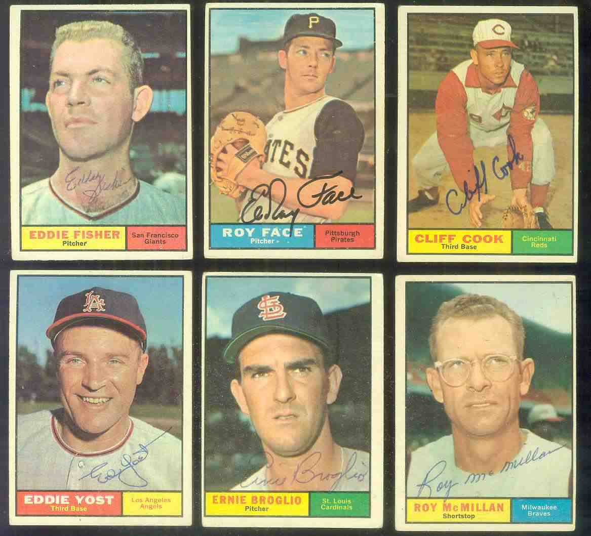 1961 Topps AUTOGRAPHED #413 Eddie Yost w/PSA/DNA Auction LOA Baseball cards value