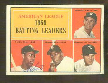 1961 Topps AUTOGRAPHED #.42 Al Smith A.L. Batting Leaders PSA/DNA (deceased Baseball cards value