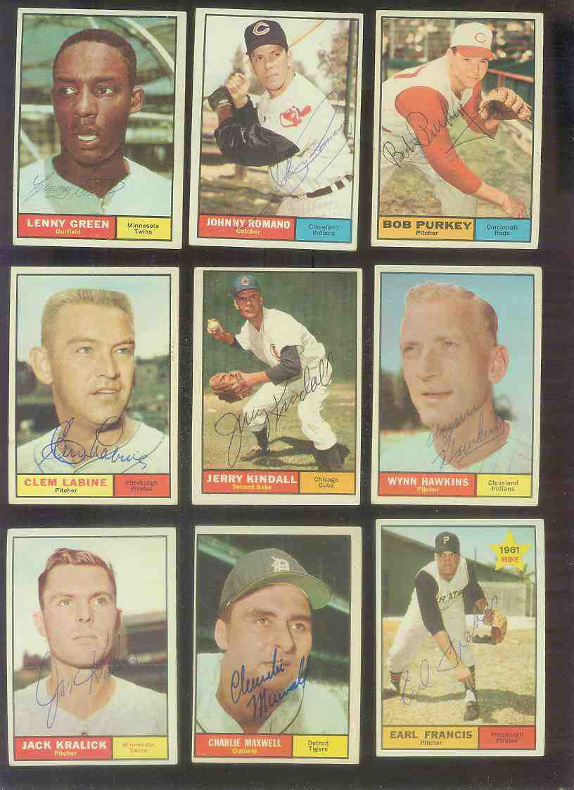 1961 Topps AUTOGRAPHED #.54 Earl Francis w/PSA/DNA LOA (Pirates,deceased) [ Baseball cards value