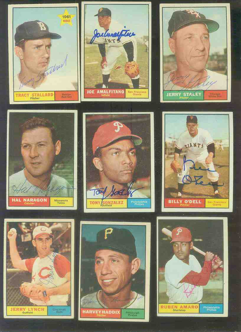 1961 Topps AUTOGRAPHED #100 Harvey Haddix w/PSA/DNA LOA (Pirates,deceased) Baseball cards value