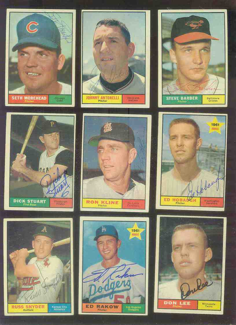 1961 Topps AUTOGRAPHED #153 Don Lee w/PSA/DNA Auction LOA (Twins) Baseball cards value