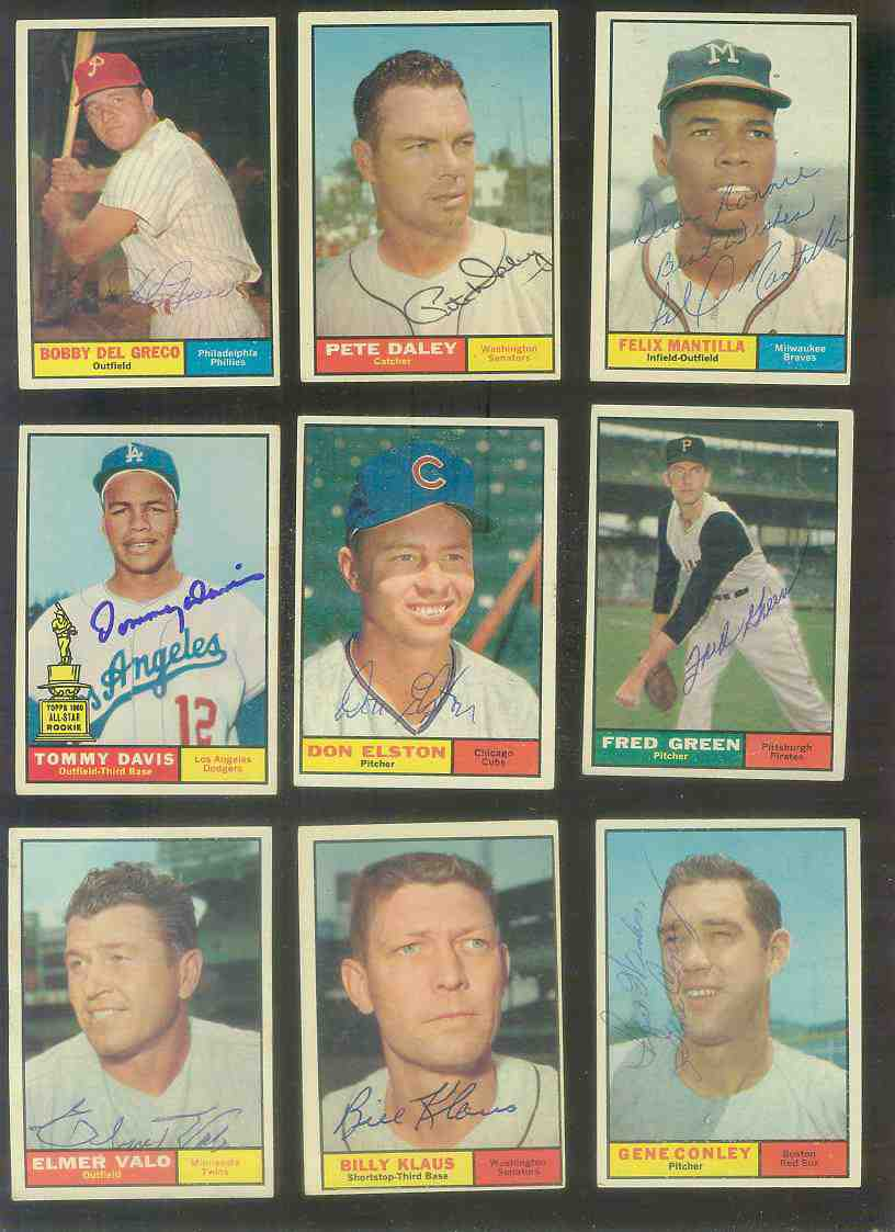 1961 Topps AUTOGRAPHED #187 Billy Klaus w/PSA/DNA LOA (Senators,deceased) [ Baseball cards value