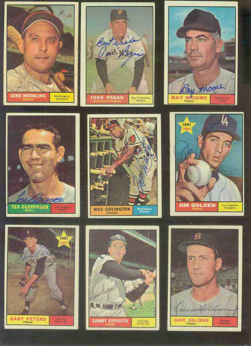 1961 Topps AUTOGRAPHED #326 Dave Hillman w/PSA/DNA Auction LOA (Red Sox) [d Baseball cards value
