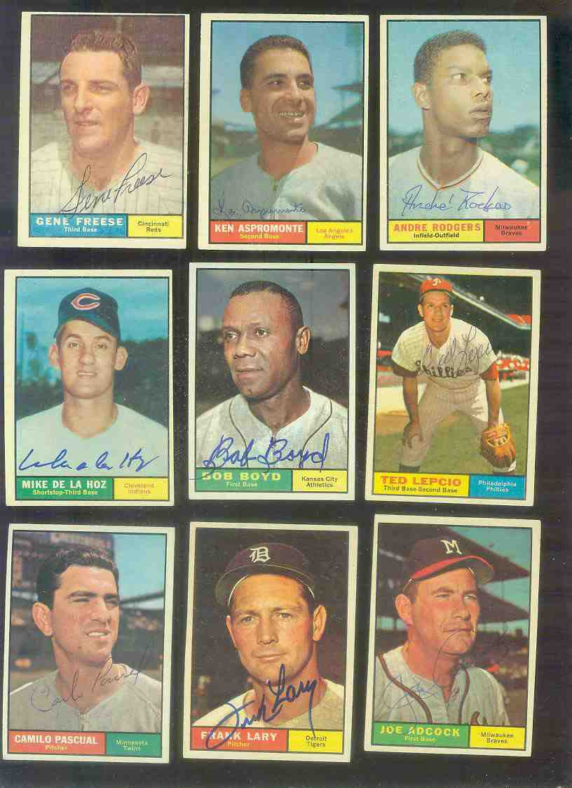 1961 Topps AUTOGRAPHED #245 Joe Adcock w/PSA/DNA LOA (Braves,deceased) Baseball cards value
