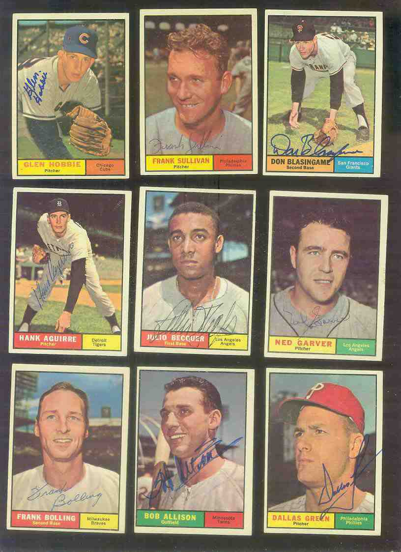1961 Topps AUTOGRAPHED #294 Don Blasingame w/PSA/DNA LOA (Giants,deceased) Baseball cards value