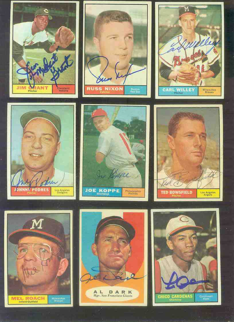 1961 Topps AUTOGRAPHED #216 Ted Bowsfield w/PSA/DNA Auction LOA (Angels) [d Baseball cards value
