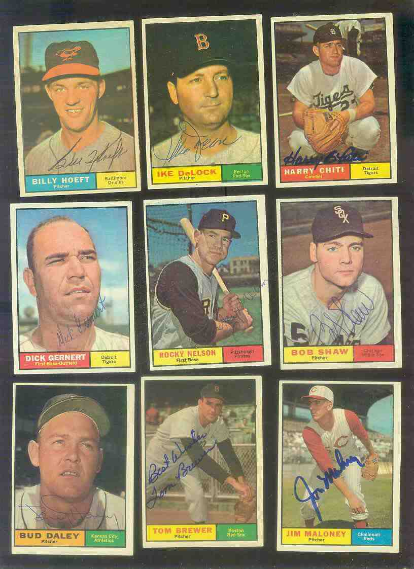 1961 Topps AUTOGRAPHED #304 Rocky Nelson w/PSA/DNA LOA (Pirates,deceased) [ Baseball cards value
