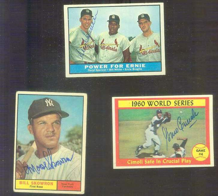 1961 Topps AUTOGRAPHED #451 Daryl Spencer 'Power for Ernie' w/PSA/DNA LOA [ Baseball cards value