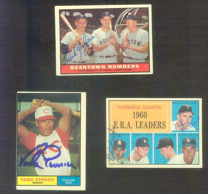 1961 Topps AUTOGRAPHED #.45 Mike McCormick (deceased) w/PSA/DNA LOA Baseball cards value