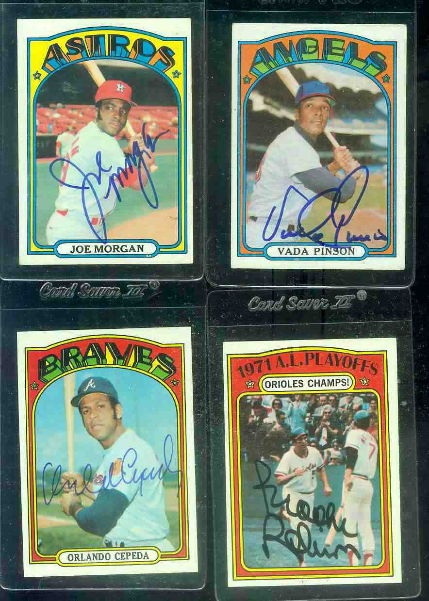 AUTOGRAPHED: 1972 Topps #195 Orlando Cepeda w/PSA/DNA Auction LOA (Braves) Baseball cards value