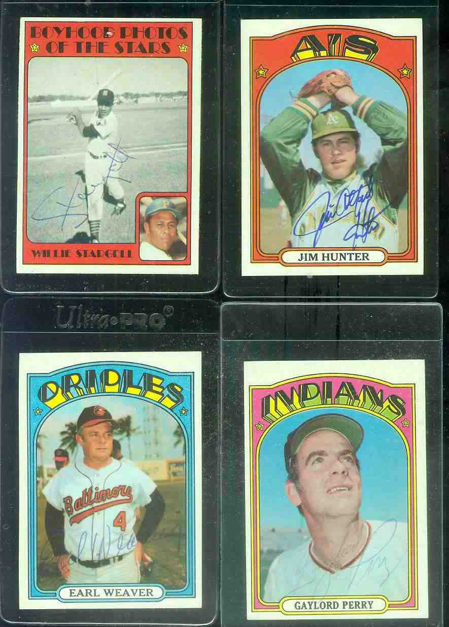 AUTOGRAPHED: 1972 Topps #330 Jim Hunter w/PSA/DNA Auction LOA (A's,deceased Baseball cards value