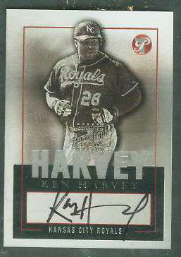 Ken Harvey - 2003 Topps PRISTINE Certified AUTOGRAPH (Royals) Baseball cards value
