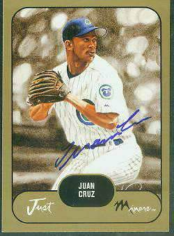 Juan Cruz - 2002 Just Minors PROSPECTS GOLD Certified AUTOGRAPH (Cubs) Baseball cards value