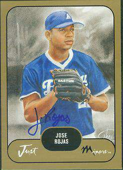 Jose Rojas - 2002 Just Minors PROSPECTS GOLD Certified AUTOGRAPH (Dodgers) Baseball cards value