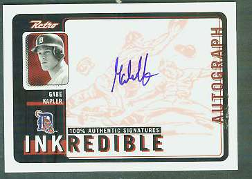 Gabe Kapler - 1999 UD Retro 'Inkredible' AUTOGRAPH (Tigers) Baseball cards value