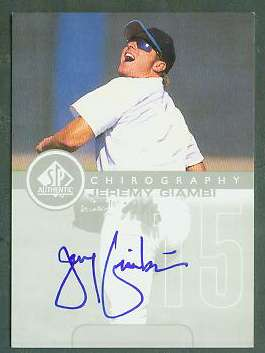 Jeremy Giambi - 1999 SP Authentic 'Chirography' AUTOGRAPH (Royals) Baseball cards value
