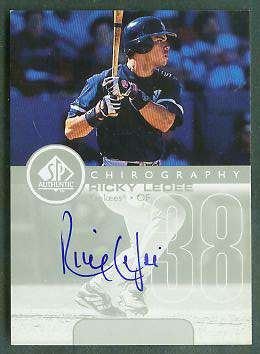 Ricky Ledee - 1999 SP Authentic 'Chirography' AUTOGRAPH (Yankees) Baseball cards value