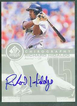 Richard Hidalgo - 1999 SP Authentic 'Chirography' AUTOGRAPH (Astros) Baseball cards value