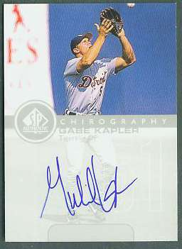 Gabe Kapler - 1999 SP Authentic 'Chirography' AUTOGRAPH (Tigers) Baseball cards value
