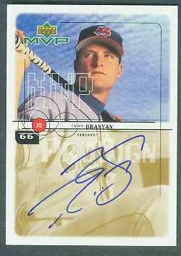 Russ Branyan - 1999 Upper Deck MVP AUTOGRAPH (Indians) Baseball cards value