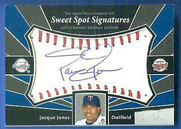 Jacque Jones - 2004 Sweet Spot Signatures AUTOGRAPHED BASEBALL Baseball cards value