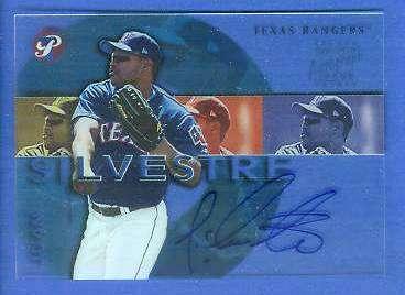 Juan Silvestre - 2002 Topps Pristine AUTOGRAPH (Rangers) Baseball cards value