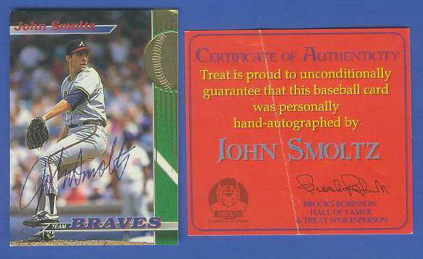 John Smoltz - 1993 Stadium Club 'Team Braves' AUTOGRAPHED (Braves) Baseball cards value