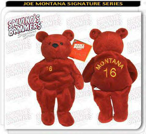Joe Montana - AUTOGRAPHED Limited Edition Salvino Bear !!! Football cards value