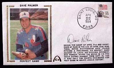 Dave Palmer - 1984 AUTOGRAPHED Gateway Cachet 'PERFECT GAME' (Expos) Baseball cards value