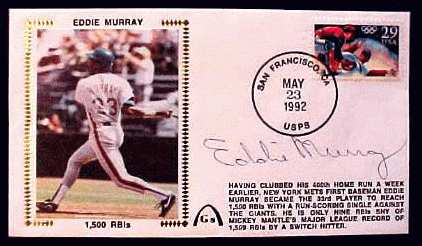 Eddie Murray - 1992 AUTOGRAPHED Gateway Cachet '1,500 RBIS' (Mets) Baseball cards value