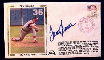 Tom Seaver - 1985 AUTOGRAPHED Gateway Cachet '300 VICTORIES' (White Sox) Baseball cards value