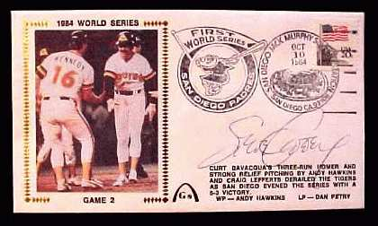 Steve Garvey - 1984 AUTOGRAPHED Gateway Cachet '1984 WORLD SERIES GAME #2' Baseball cards value