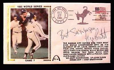 George Brett - 1985 DUAL AUTOGRAPHED Gateway Cachet 1985 WORLD SERIES G. # Baseball cards value