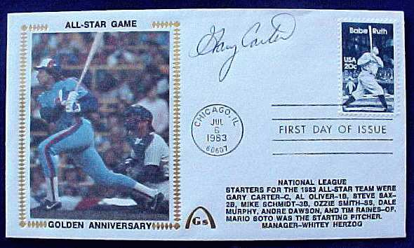 Gary Carter - 1983 AUTOGRAPHED Gateway Cachet 'ALL-STAR GAME' Baseball cards value