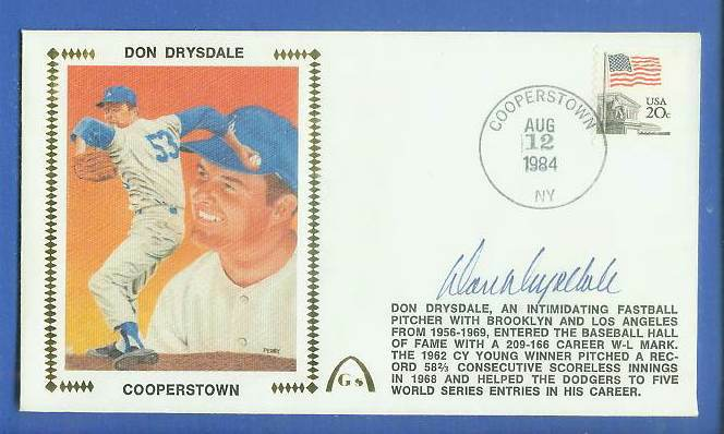 Don Drysdale - 1984 AUTOGRAPHED Gateway Cachet 'COOPERSTOWN' (Dodgers) Baseball cards value