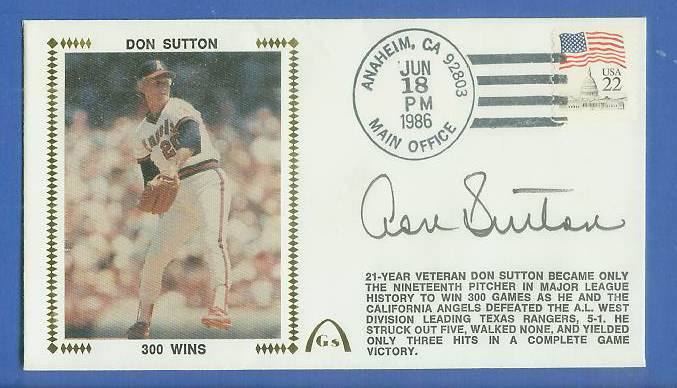 Don Sutton - 1986 AUTOGRAPHED Gateway Cachet '300 WINS' Baseball cards value