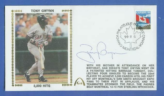 Tony Gwynn - 1999 AUTOGRAPHED Gateway Cachet '3,000 HITS' Baseball cards value