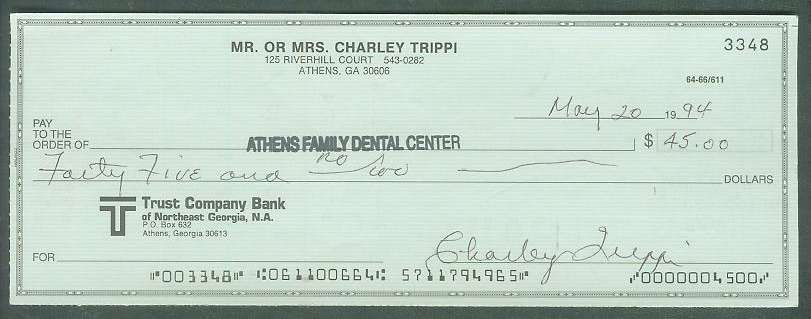 Charley Trippi - Autographed official Bank Check Football cards value