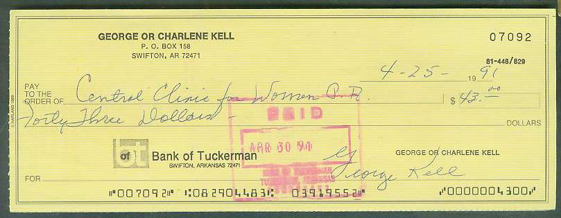 George Kell - Autographed official Bank Check (Tigers) Baseball cards value